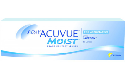 Caja de lentillas 1-DAY ACUVUE MOIST FOR ASTIGMATISM 30 UNIDADES